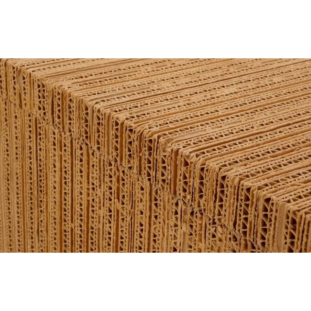 Rare Frank Gehry Easy Edges Cardboard Desk in Excellent Condition For Sale - Image 5 of 8