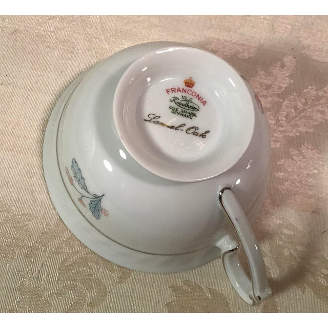 Mid-Century Bavarian China Cups & Saucers For Sale - Image 10 of 11