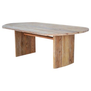 Rustic Custom Dining Table Made From Reclaimed Pine For Sale