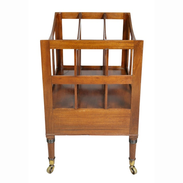 Regency Style Mahogany Canterbury For Sale In Boston - Image 6 of 9