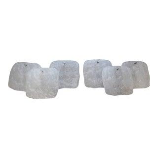 Mid-Century Kalmar Ice Block Glass Sconces - a Pair For Sale