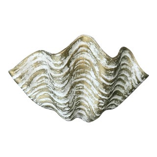 Vintage Ceramic Grotto Style Sea Shell Wall Planter For Sale