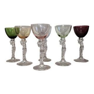 Art Deco Cambridge Set of 6 Brandy Goblets For Sale