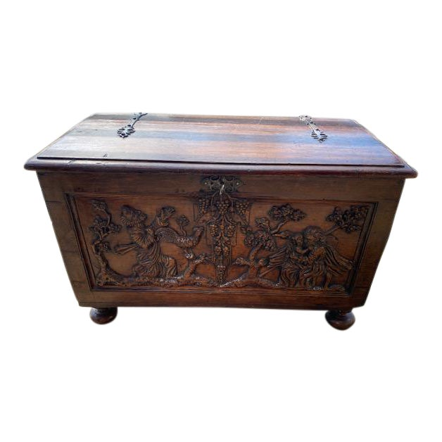 Late 18th Century Italian Carved Trunk Miniature For Sale