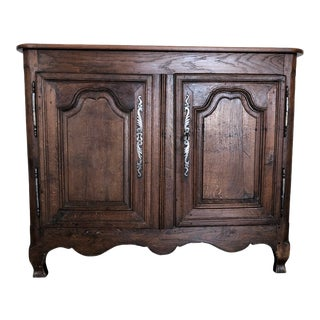 French Early 19th Century Louis XV Oak Buffet From Normandy For Sale