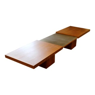 Mid Century Modern John Keal for Brown Saltman Extendable Wood Coffee Table 70s For Sale