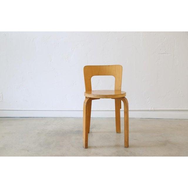 Brown Alvar Aalto for Artek Birchwood Chair 65 For Sale - Image 8 of 8