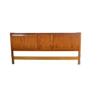 1960s Vintage John Widdicomb King Size Cherry Headboard For Sale