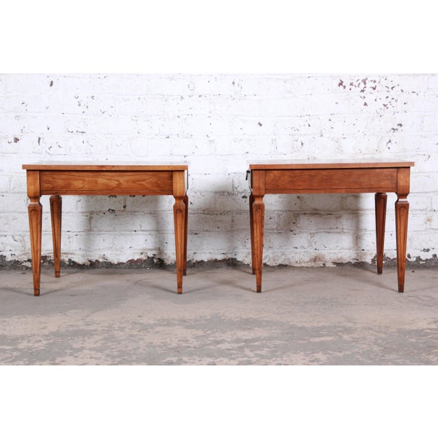 Baker Furniture Milling Road French Regency End Tables, Pair For Sale - Image 9 of 12