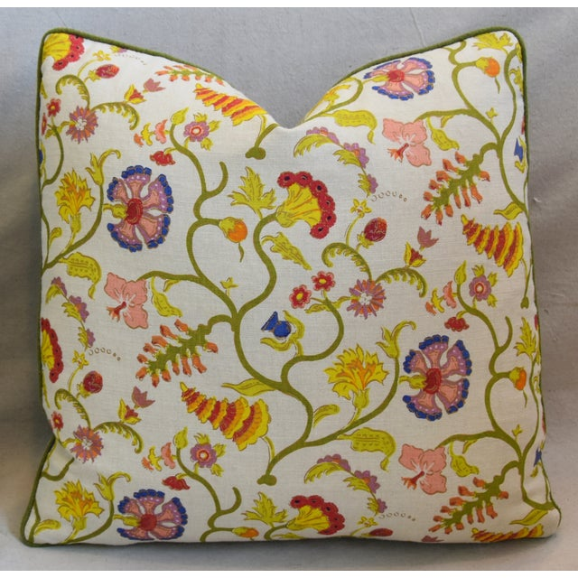 """Early 21st Century Raoul Floral & Scalamadre Mohair Feather/Down Pillows 21"""" Square - Pair For Sale - Image 5 of 13"""