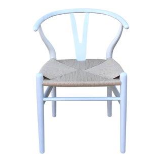 Mid-Century Modern White Wishbone Chairs