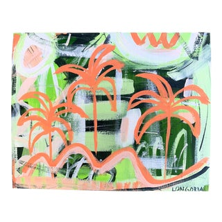 """Palms #12"" Abstract Painting by Christina Longoria For Sale"