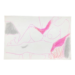 Reclining Female Nude by James Bone For Sale