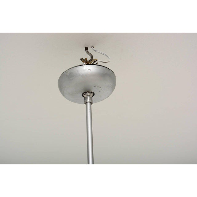 Aluminum Architectural Aluminum Shade Hanging Lamp For Sale - Image 7 of 10