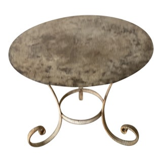 Vintage Outdoor Metal Table For Sale