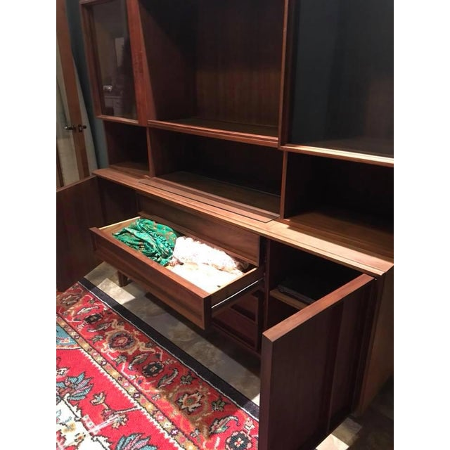 Mid-Century Modern Sideboard + Hutch For Sale In Phoenix - Image 6 of 8