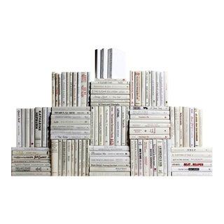 Modern Snowfall Book Wall - 100 Books For Sale