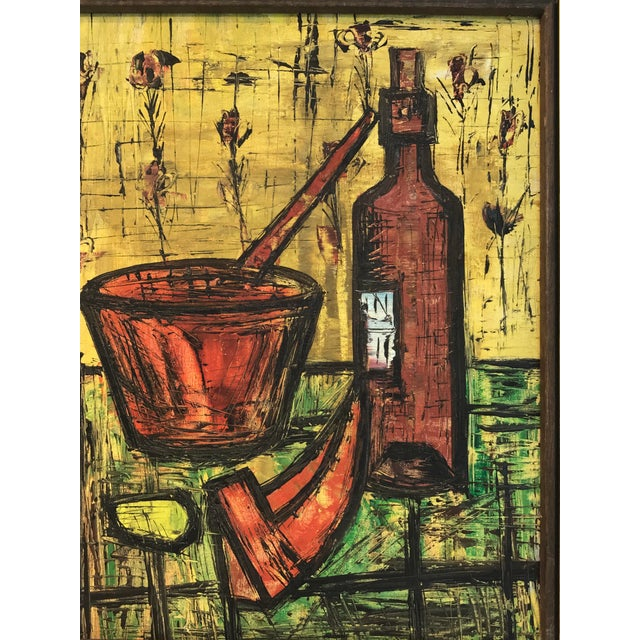 Expressionism Mid Century French School Still Life, in the Manner of Bernard Buffet For Sale - Image 3 of 8