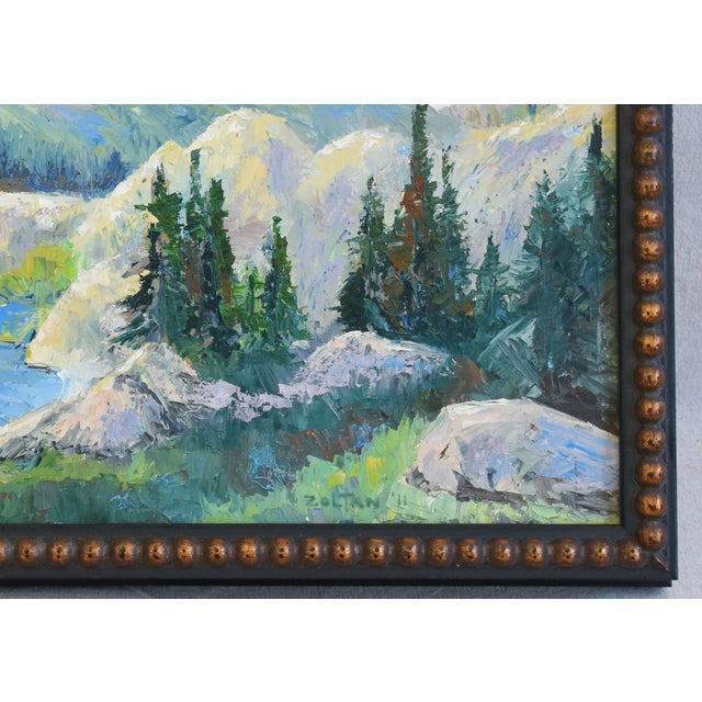 Zoltan, Plein Air Mountain and Lake Landscape Oil Painting For Sale - Image 4 of 9