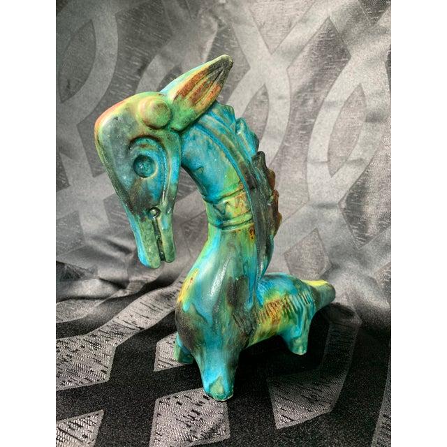 "1950s Vintage Alvino Bagni ""Sea Garden"" Italian Sea Horse Pottery Sculpture For Sale In Chicago - Image 6 of 13"