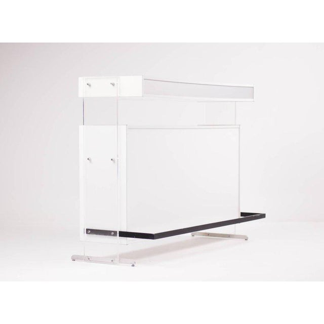 Acrylic Architectural Dry Bar with Acrylic Uprights by Poul Nørreklit For Sale - Image 7 of 10