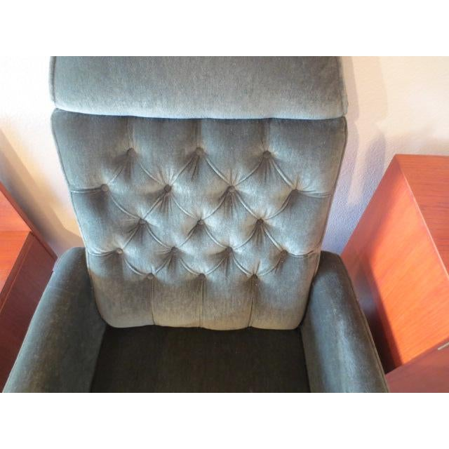 Textile C. 1970s Green Office Chair For Sale - Image 7 of 7