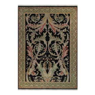 Bhati Pak-Persian Sallie Black & Green Wool Rug - 10'2 X 14'1 For Sale