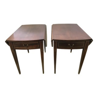Mahogany Pembroke Drop Leaf End Tables - a Pair For Sale