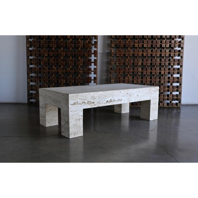 Travertine Coffee Table 1980 For Sale - Image 11 of 11