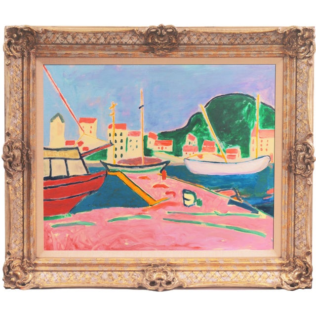 Signed verso, 'Ant McNaught', (American, born 1952), inscribed '(After Derain, 1905)', titled 'Port de Vendres' and dated...