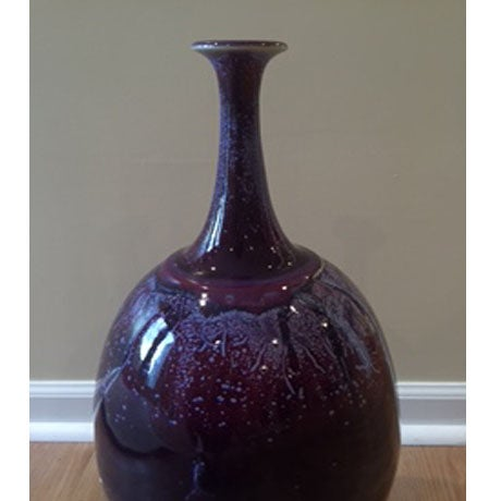 Arteriors Large Heliotrope Purple Porcelain Vase - Image 3 of 3