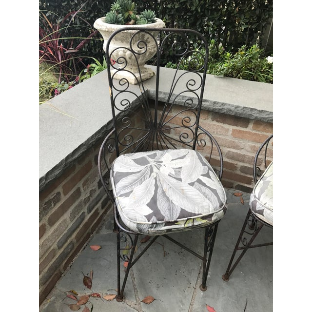 Vintage Petite Iron Chairs - A Pair - Image 5 of 6