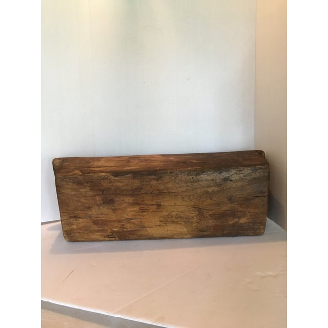 Brown 1940s Rustic Wood Trough/Bowl With Double Handles For Sale - Image 8 of 9