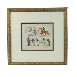 Henry Alken Hand Colored Engraving For Sale