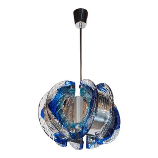 Mid-Century Modernist Murano Glass Chandelier by Angelo Brotto for Esperia For Sale
