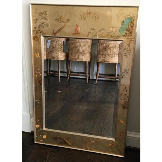 Asian 1970's Vintage La Barge / LaBarge Chinoiserie Églomisé Mirror For Sale - Image 3 of 11