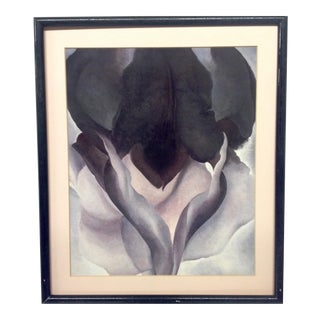 Vintage Georgia Okeeffe Black Iris Print