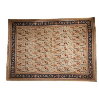 "Vintage Indian Soumac Design Carpet - 10' X 13'9"" For Sale"