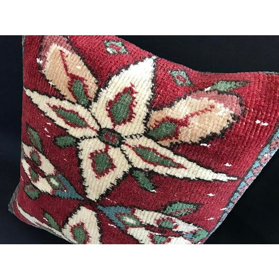 Colorful Turkish Wool Bohemian Pillow Cover For Sale - Image 10 of 11