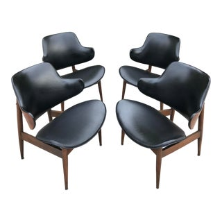 Mid Century Kodawood Lounge Chairs by Seymour James Wiener - Set of 4 For Sale