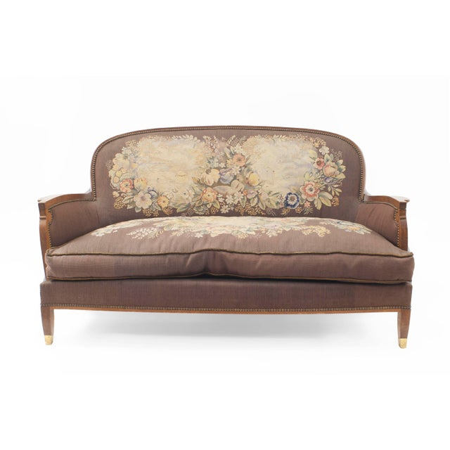 1940s 1940s French Art Deco Loveseat For Sale - Image 5 of 5