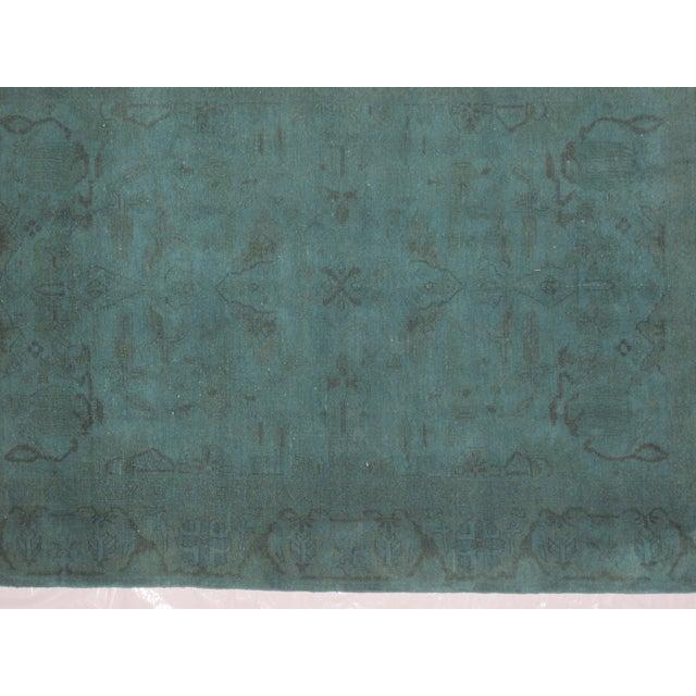 """Leon Banilivi Over-Dyed Green Wool Rug - 6' X 4'3"""" - Image 4 of 5"""