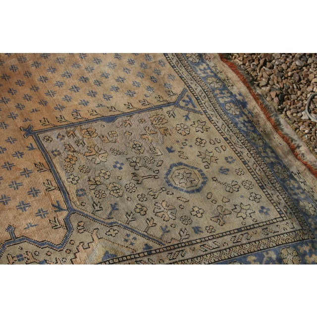 Textile Early 20th Century Antique Oushak Waterloo Design Rug - 11′9″ × 15′5″ For Sale - Image 7 of 13