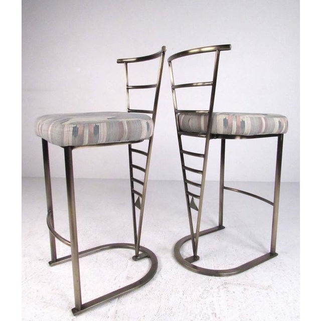 DIA - Design Institute America Pair of Contemporary Modern Bar Stools by Dia For Sale - Image 4 of 11