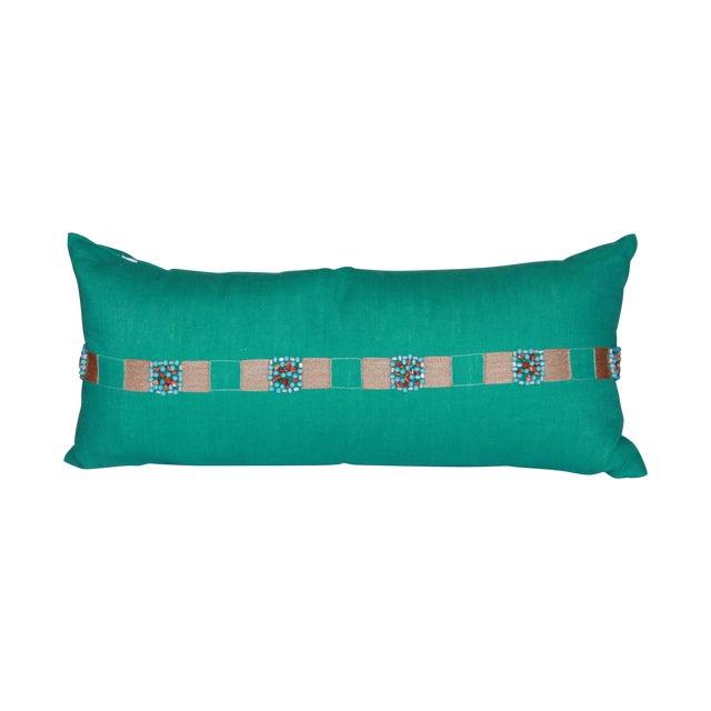 Aqua Blue Lumbar Pillow - Image 1 of 4