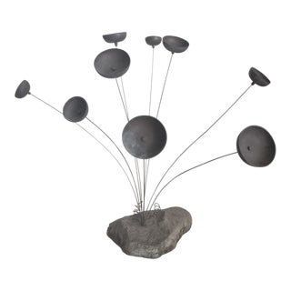 Late 20th Century Tabletop Bronze Wind Chime For Sale