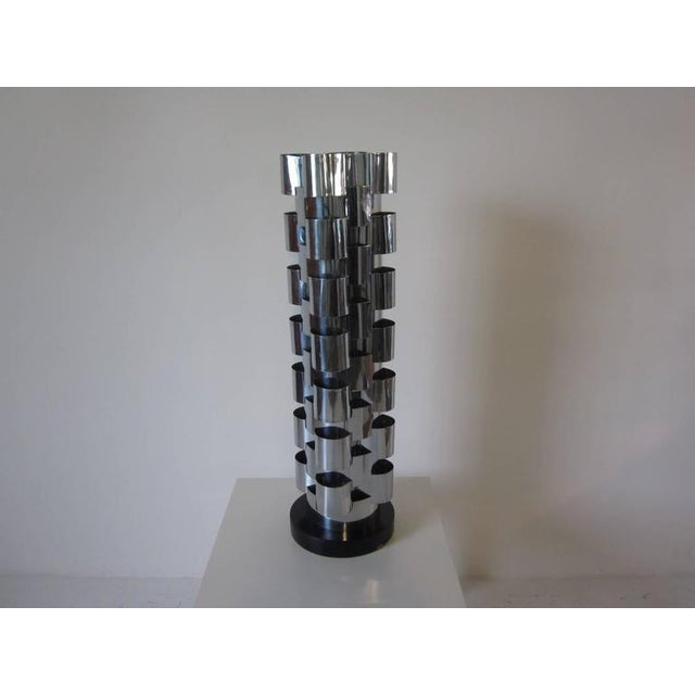 Chrome Curtis Jere Interlaced Table Lamp For Sale - Image 7 of 7