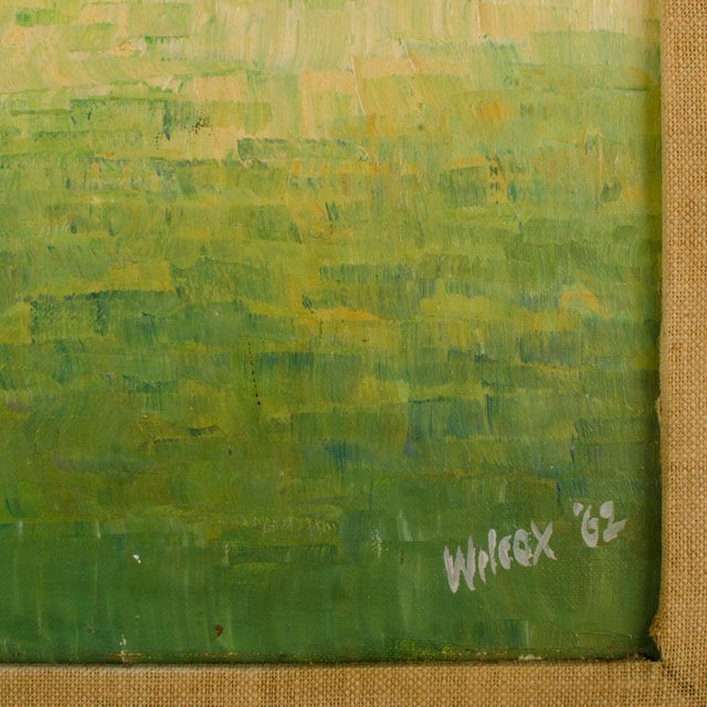 """1960s """"Flock of Seagulls"""" Abstract Oil Painting, Framed For Sale In Philadelphia - Image 6 of 12"""