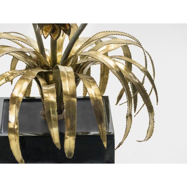 1970s Rare Pair of Hollywood Regency Brass Maison Jansen Pineapple Floor Lamps, 1970s For Sale - Image 5 of 13