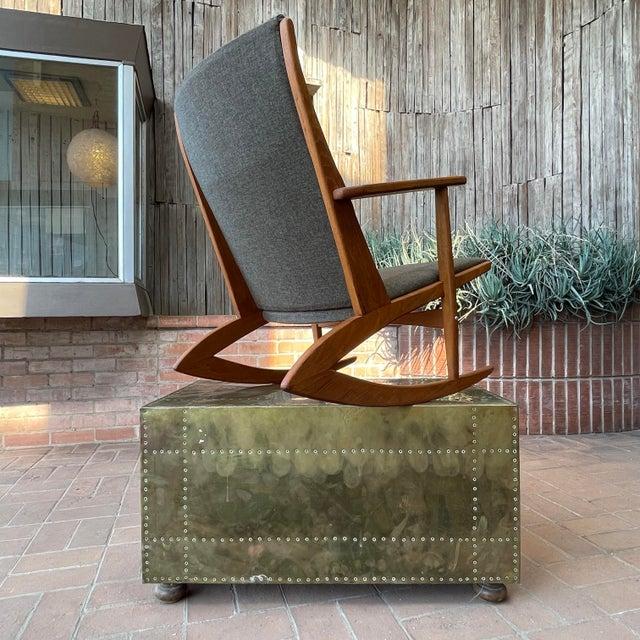 1950s 1950s Vintage Danish Georg Jensen Tønder Møbelværk Teak Rocking Chair For Sale - Image 5 of 10